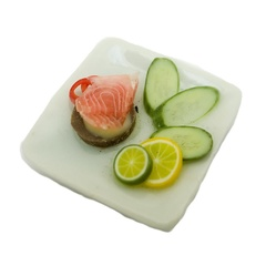 Image of Smoked Salmon Salad Plate