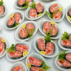 Image of Salmons Steaks on a plate