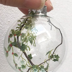 Image of <b> NEW:</b> Glass Xmas Greenery