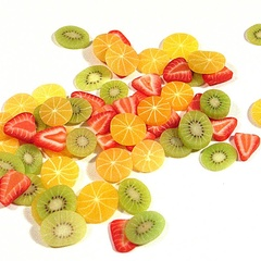 Image of Exotic Fruit Slices (orange)