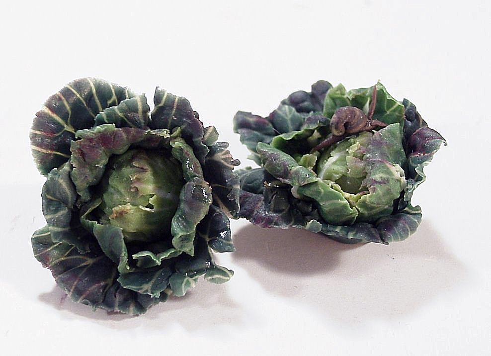 TX Miniatures Market Place html Vegetables, Cabbage, Savoy, Whole