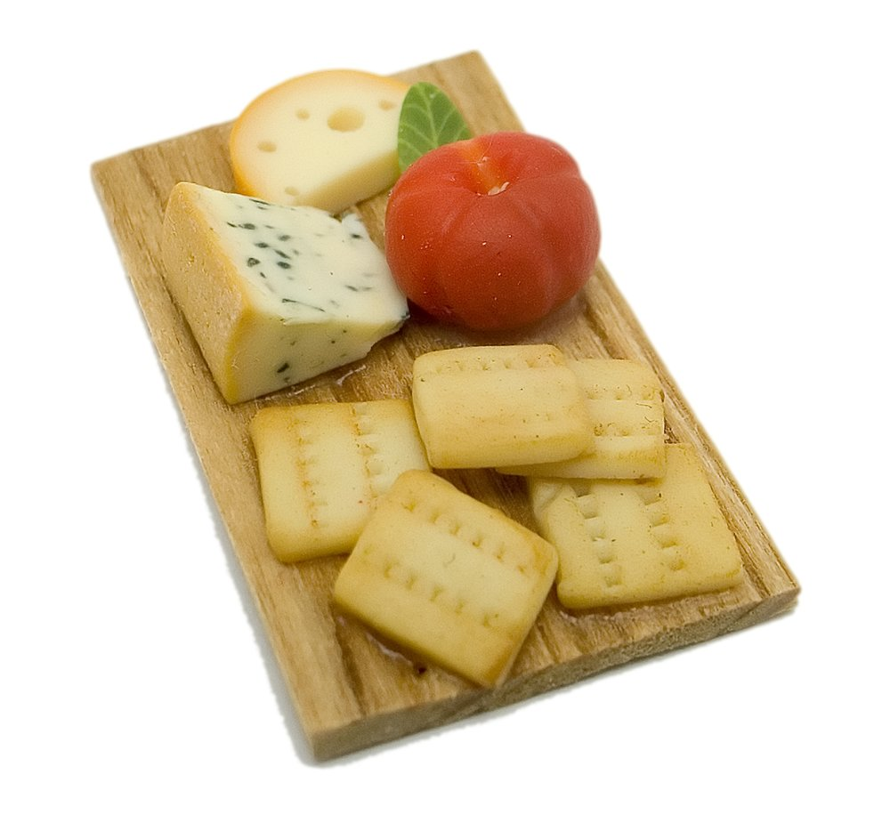Miniatures Market Place html Boards and Slabs, Cheese Tomato Crackers Board