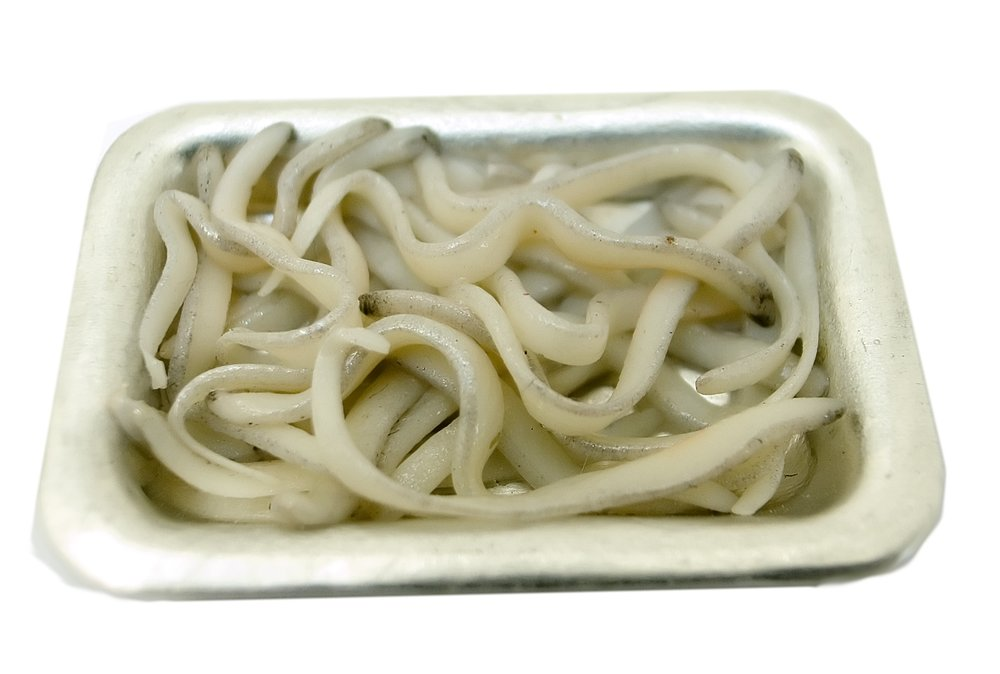 Miniatures Market Place html Fish, Elvers Cooked On Tray
