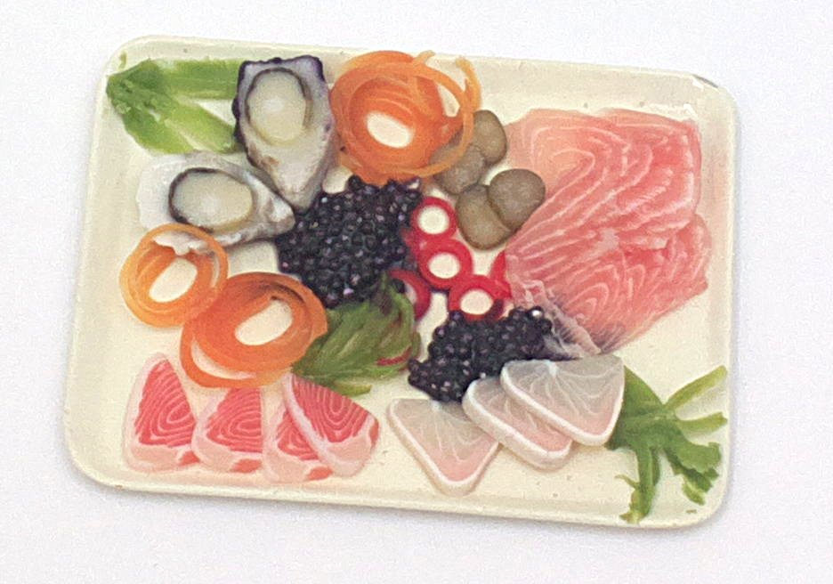 Miniatures Market Place html Plated Meals, Sashimi Tray