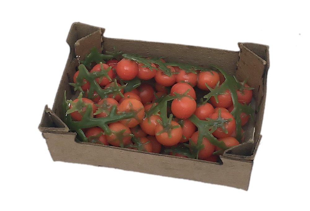 Miniatures Market Place html Crates and Baskets, Tomato Vines Crate NEW